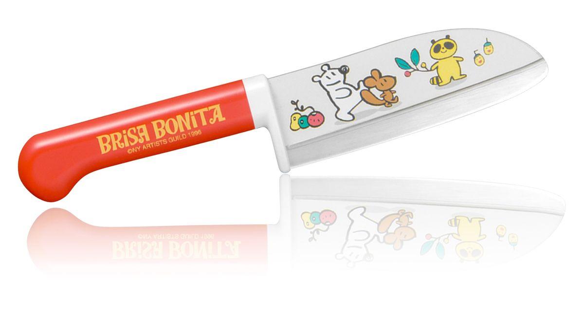Нож сантоку Tojiro Brisa Bonita, детский, длина лезвия 11,5 см. BB-3BB-3Детский нож сантоку Tojiro Brisa Bonita изготовлен извысококачественной нержавеющей стали, обладающейвысокой твердостью и устойчивостью к коррозии. Японская компания Tojiro представляет Brisa Bonita -специальная серия кухонных ножей для детей (9+). Эти ноживыполнены с учетом максимальной безопасности дляребенка,рукоять ножа изготовлена из высокопрочного пластика иимеетширокий упор под пальцы. Лезвие имеет закругленное остриеискрытую под упором пятку. Однако это полноценный кухонныйнож и совсем не игрушка, он позволяет разрезать любыепродукты с легкостью которая присуща всем ножам маркиTojiro. Правила эксплуатации:- Хранить нож следует в сухом месте.- После использования, промойте нож теплой водой ипротрите насухо.- Оставление ножа в загрязненном состоянии можетпривести к образованию коррозии.Запрещается:- Мыть нож в посудомоечной машине.- Хранить ножи в одной емкости со столовыми приборами. - Резать на твердых поверхностях: каменных столешницах,керамических тарелках, акриловых досках.- Запрещается нецелевое использование ножа: вскрыватьконсервные банки, разрезать кости, скоблить твердыеповерхности, резать замороженные продукты.Правка производится легкими движениями на водном камнеили мусате.Заточка ножа - сложный технологический процесс,должен производиться профессионалом на специальномоборудовании. Услуга по заточке ножа предоставляетсяспециалистами компании «Тоджиро».Уважаемые клиенты!В случае несоблюдения правил эксплуатации, нож неподлежит гарантийному обслуживанию.