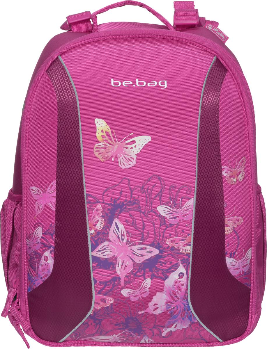Herlitz Ранец школьный Be Bag Watercolor Butterfly11409992Школьный ранец Herlitz Be Bag. Watercolor Butterfly изготовлен по жестко-каркасной технологии, что обеспечивает правильную эргономичную форму. Каркас не деформируется при нагрузке и распределяет вес по всей площади ранца.Ранец содержит два вместительных отделения, закрывающихся на застежки-молнии с двумя бегунками. В большом отделении находится мягкая перегородка для тетрадей или учебников, фиксирующаяся хлястиком на липучке. Во втором отделении расположены карман-сетка, органайзер для канцелярских принадлежностей, кармашек под мобильный телефон и пластиковый карабин для ключей. Изделие имеет два открытых боковых кармана.Ранец оснащен регулируемыми по длине плечевыми лямками и дополнен текстильной ручкой для переноски в руке. Грудное крепление создано специально для фиксации лямок на плечах ребенка. Прочное дно с пластиковыми ножками придает ранцу хорошую устойчивость и защиту от загрязнений. Светоотражающие элементы обеспечивают безопасность в темное время суток.Многофункциональный школьный ранец станет незаменимым спутником вашего ребенка в походах за знаниями.