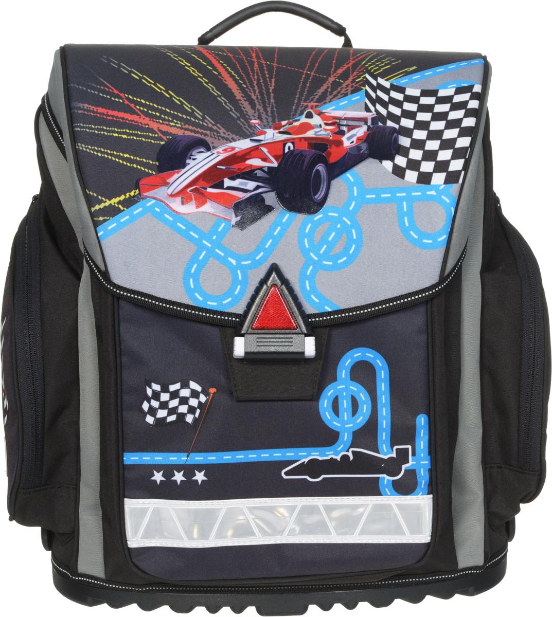 Action! Ранец школьный Спортивная машина цвет черный - Ранцы и рюкзаки