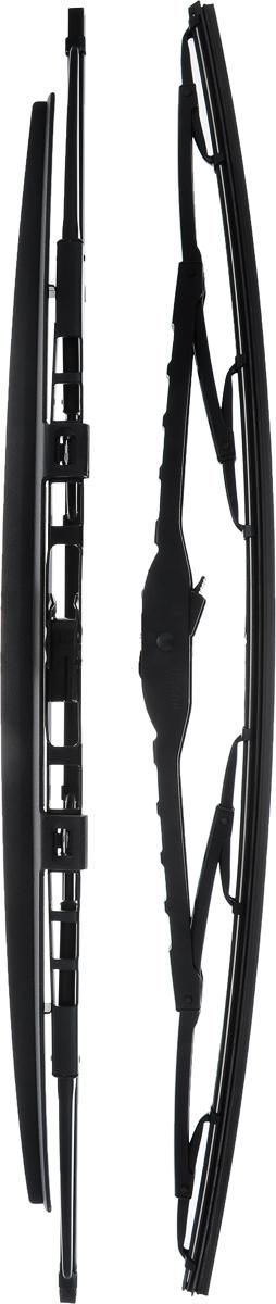 Щетка стеклоочистителя Bosch 583S, каркасная, со спойлером, длина 53 см, 2 шт3397001583Щетка Bosch 583S, выполненная по современной технологии из высококачественных материалов, оптимально подходит для замены оригинальных щеток, установленных на конвейере. Обеспечивает идеальную очистку стекла в любую погоду.TWIN Spoiler - серия классических каркасных щеток со спойлером. Эти щетки имеют полностью металлический каркас с двойной защитой от коррозии и сверхточный профиль резинового элемента с двумя чистящими кромками. Спойлер, выполненный в виде крыла, закрывает каркас щетки от воздушного потока.Комплектация: 2 шт.