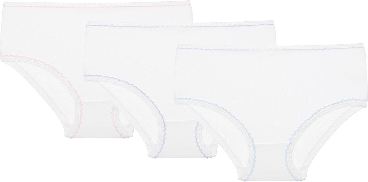 Трусы для девочки Lowry, цвет: белый, 3 шт. GP-202. Размер L (122/128) трусы lowry трусы