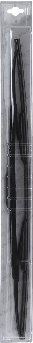 Щетка стеклоочистителя Bosch 55C, каркасная, длина 55 см, 1 шт3397004672Универсальная щетка Bosch 55C - функциональныйстеклоочиститель с металлическими скобами, которыйхарактеризуется хорошей эффективностью очистки икачеством. Каркас щетки выполнен из металла сантикоррозийным покрытием и имеет форму,способствующую уменьшению подъемной силы навысоких скоростях. Натуральная резина щетки сграфитовым напылением обеспечивает тщательностьочистки. Щетка имеет крепление крючок. Быстрыймонтаж, благодаря предварительно установленномууниверсальному адаптеру Quick Clip.