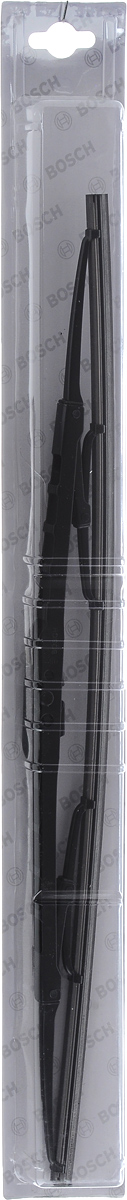 Щетка стеклоочистителя Bosch 48C, каркасная, длина 48 см, 1 шт3397004669Универсальная щетка Bosch 48C - функциональныйстеклоочиститель с металлическими скобами, которыйхарактеризуется хорошей эффективностью очистки икачеством. Каркас щетки выполнен из металла сантикоррозийным покрытием и имеет форму,способствующую уменьшению подъемной силы навысоких скоростях. Натуральная резина щетки сграфитовым напылением обеспечивает тщательностьочистки. Щетка имеет крепление крючок. Быстрыймонтаж, благодаря предварительно установленномууниверсальному адаптеру Quick Clip.