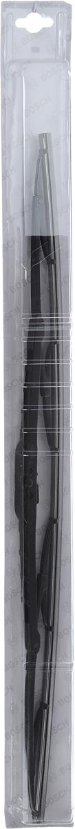 Щетка стеклоочистителя Bosch 60C, каркасная, длина 60 см, 1 шт3397004673Универсальная щетка Bosch 60C - функциональныйстеклоочиститель с металлическими скобами, которыйхарактеризуется хорошей эффективностью очистки икачеством. Каркас щетки выполнен из металла сантикоррозийным покрытием и имеет форму,способствующую уменьшению подъемной силы навысоких скоростях. Натуральная резина щетки сграфитовым напылением обеспечивает тщательностьочистки. Щетка имеет крепление крючок. Быстрыймонтаж, благодаря предварительно установленномууниверсальному адаптеру Quick Clip.