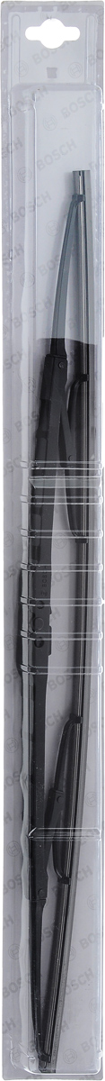 Щетка стеклоочистителя Bosch 53C, каркасная, длина 53 см, 1 шт3397004671Универсальная щетка Bosch 53C - функциональныйстеклоочиститель с металлическими скобами, которыйхарактеризуется хорошей эффективностью очистки икачеством. Каркас щетки выполнен из металла сантикоррозийным покрытием и имеет форму,способствующую уменьшению подъемной силы навысоких скоростях. Натуральная резина щетки сграфитовым напылением обеспечивает тщательностьочистки. Щетка имеет крепление крючок. Быстрыймонтаж, благодаря предварительно установленномууниверсальному адаптеру Quick Clip.