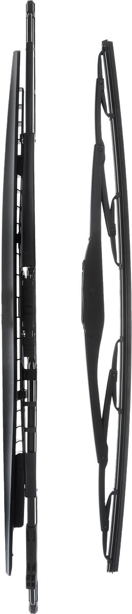 Щетка стеклоочистителя Bosch 394S, каркасная, со спойлером, длина 50/58 см, 2 шт3397001394Комплект Bosch 394S состоит из двух щеток разной длины, выполненных по современной технологии из высококачественных материалов. Они обеспечивают идеальную очистку стекла в любую погоду.TWIN Spoiler - серия классических каркасных щеток со спойлером от компании Bosch. Эти щетки имеют полностью металлический каркас с двойной защитой от коррозии и сверхточный профиль резинового элемента с двумя чистящими кромками. Спойлер выполнен в виде крыла, который закрывает каркас щетки от воздушного потока.Комплектация: 2 шт.Длина щеток: 50 см; 58 см.