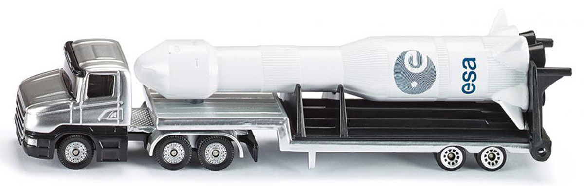 Siku Тягач с ракетой siku внедорожник jeep wrangler с прицепом для перевозки лошадей