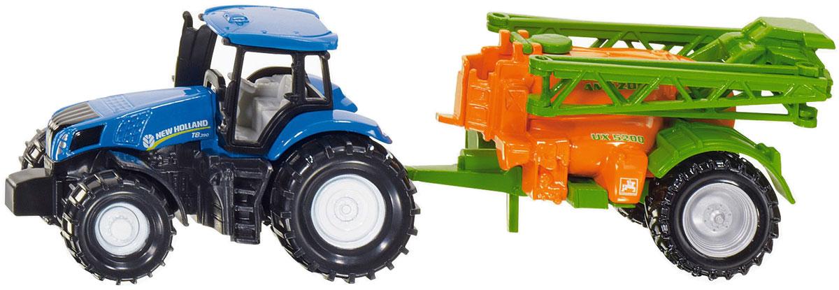 Siku Трактор New Holland с опрыскивателем siku трактор fendt 939 с прицепом и бревнами