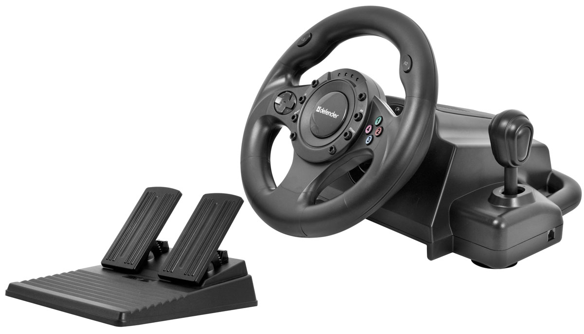 Defender Forsage Drift GT USB/PS2/PS3 игровой руль руль проводной defender forsage sport 64372