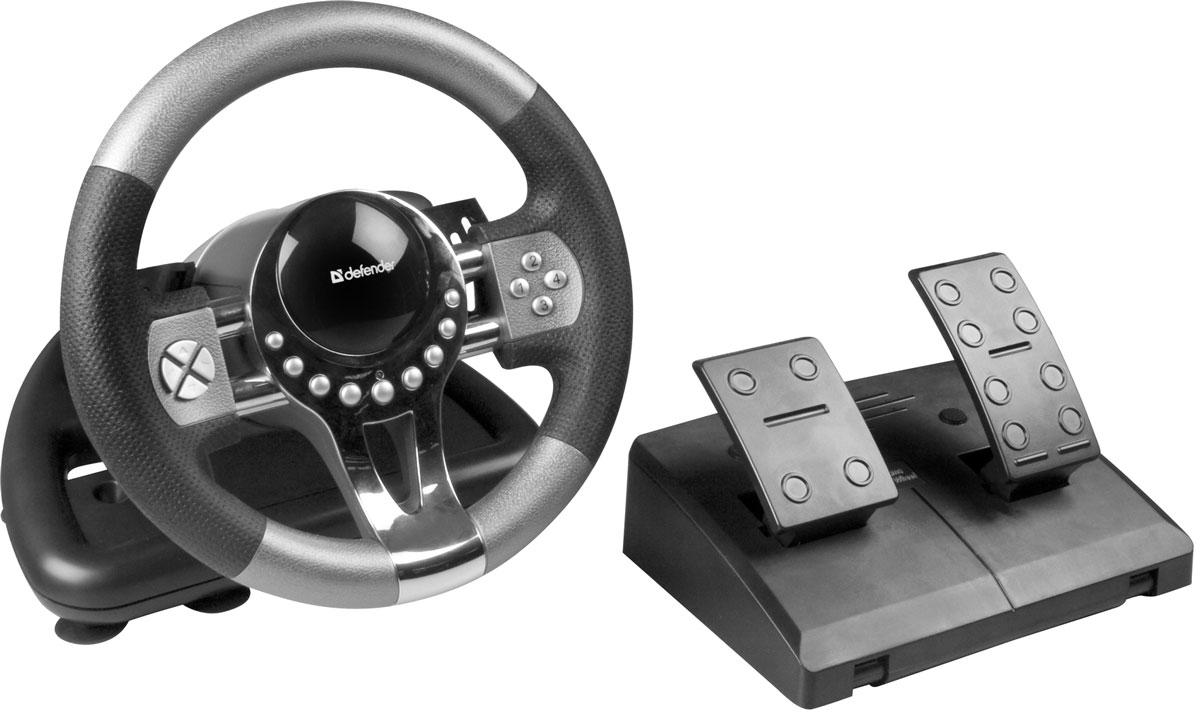 Defender Forsage GTR USB игровой руль defender forsage drift usb ps2 ps3 12 кн рычаг коробки передач 64370
