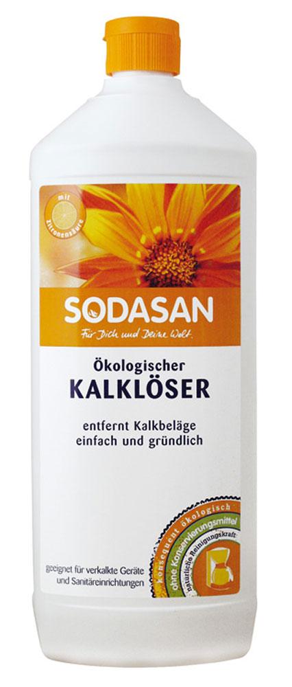 Средство для удаления известкового налета Sodasan, 1 л1750Средство для удаления известкового налета Sodasan разработано для интенсивной уборки на кухне или ванной. Эффективно удаляет известковый налет, следы воды и мыла, жирные загрязнения с плитки и сантехники. Поглощает неприятные запахи.Особенно хорошо подходит для жесткой воды. Нейтрализует остатки моющих средств, обладает дезинфицирующими свойствами.Состав: вода 30%, лимонная кислота 15-30%. Характеристики:Объем: 1 л. Артикул:1750. Товар сертифицирован. УВАЖАЕМЫЕ КЛИЕНТЫ!Обращаем ваше внимание на возможные изменения в дизайне упаковки. Поставка осуществляется в зависимости от наличия на складе.Как выбрать качественную бытовую химию, безопасную для природы и людей. Статья OZON Гид