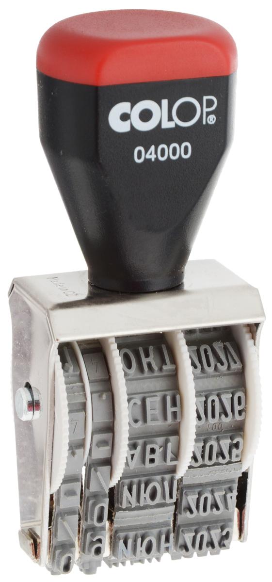Colop Датер ленточный месяц прописью 4 мм штамп дата месяц год