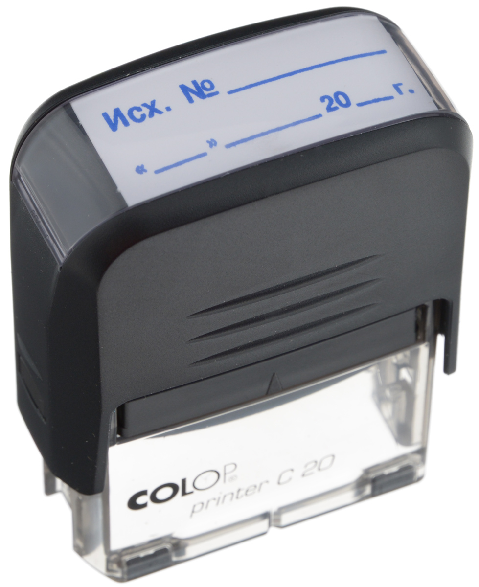 Colop Штамп Printer C20 Исх № Дата с автоматической оснасткой label sticker receipt printer barcode qr code small ticket bill pos printer support 20 80mm width print speed very fast