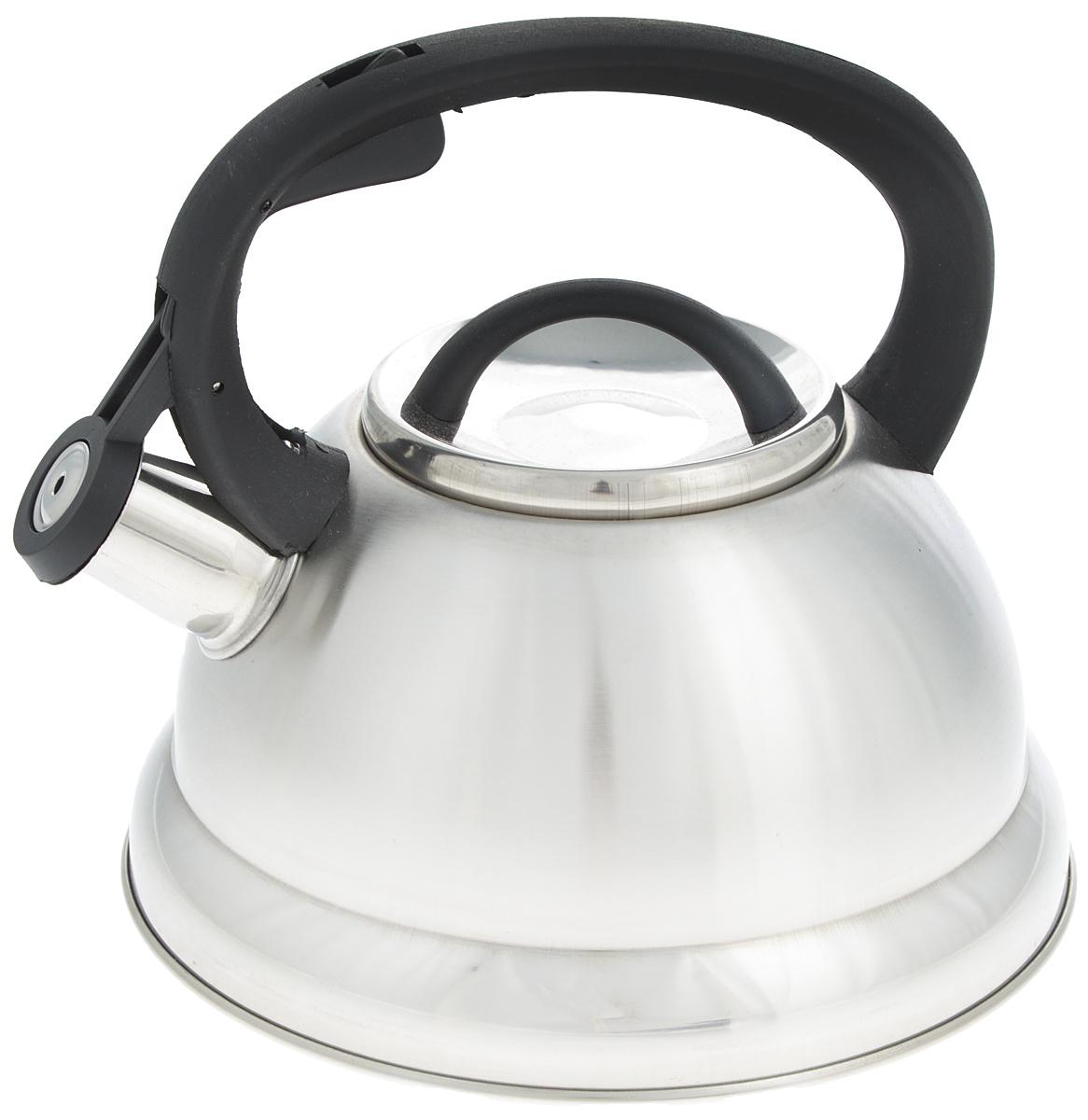 Чайник Mayer & Boch, со свистком, 2,5 л. 2574725747Чайник со свистком Mayer & Boch изготовлен из высококачественной нержавеющей стали, что обеспечивает долговечность использования. Носик чайника оснащен откидным свистком, звуковой сигнал которого подскажет, когда закипит вода. Свисток открывается нажатием кнопки на фиксированной ручке, сделанной из пластика. Чайник Mayer & Boch - качественное исполнение и стильное решение для вашей кухни. Подходит для газовых, электрических, стеклокерамических и галогеновых плит. Можно мыть в посудомоечной машине. Высота чайника (с учетом ручки и крышки): 20,5 см.Высота чайника (без учета ручки и крышки): 12 см.Диаметр чайника (по верхнему краю): 10 см.Диаметр основания: 19 см.