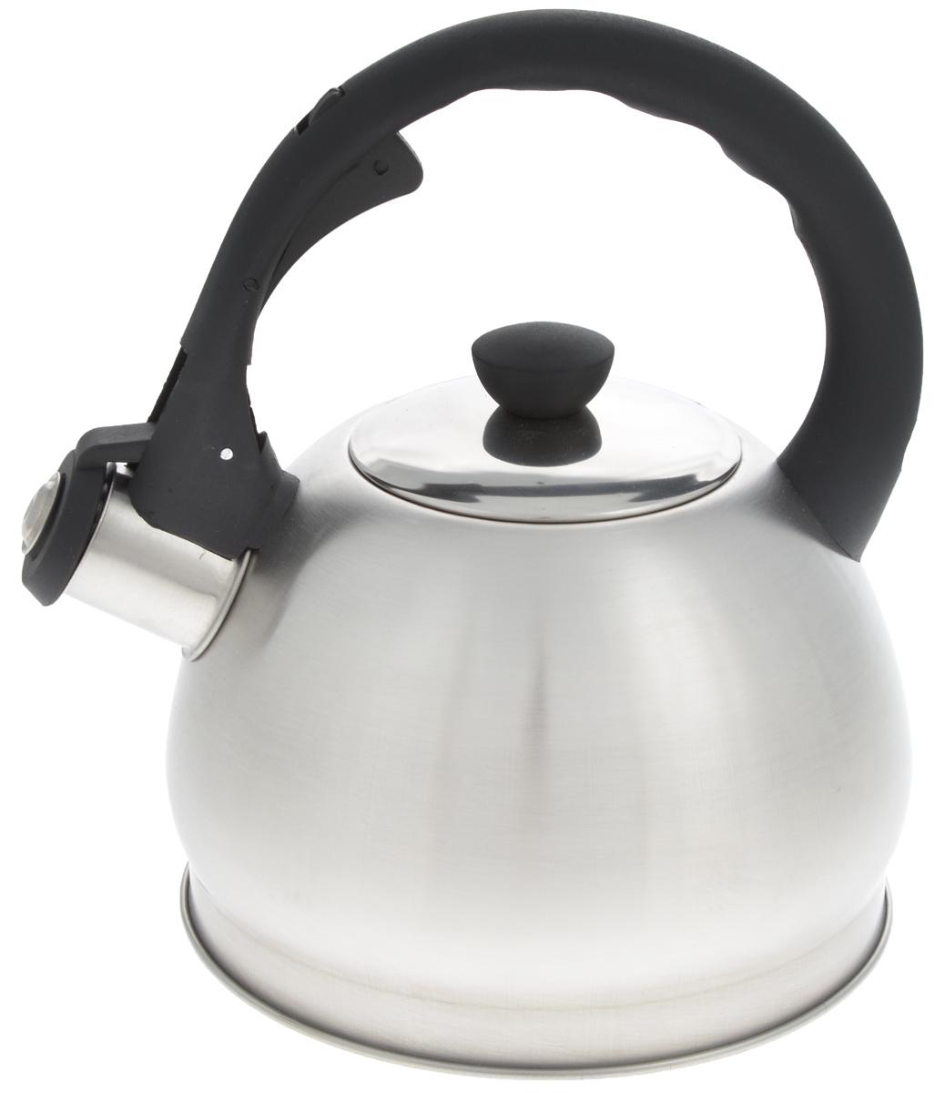 Чайник Mayer & Boch, со свистком, 2 л. 2589425894Чайник со свистком Mayer & Boch изготовлен из высококачественной нержавеющей стали, что обеспечивает долговечность использования. Носик чайника оснащен откидным свистком, звуковой сигнал которого подскажет, когда закипит вода. Свисток открывается нажатием кнопки на фиксированной ручке, сделанной из пластика.Чайник Mayer & Boch - качественное исполнение и стильное решение для вашей кухни. Подходит для всех типов плит, включая индукционные. Можно мыть в посудомоечной машине. Высота чайника (с учетом ручки и крышки): 22 см.Диаметр чайника (по верхнему краю): 9 см.Диаметр основания: 16,5 см.Диаметр индукционного диска: 11,5 см.