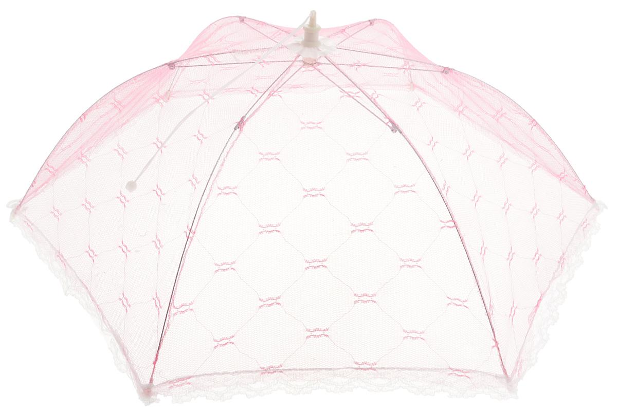 Зонт для продуктов Мультидом, цвет: розовый, белый, 65 х 65 х 20 смFY84-29_розовый, белыйЗонт для продуктов Мультидом изготовлен из полиэстеровой сетки с каркасом из пластмассы и металла. Изделие выполнено в виде шестиугольного купола, который легко собирается и разбирается. Таким зонтом очень удобно пользоваться на природе, он защитит ваши продукты от назойливых насекомых. Размер (в собранном виде): 65 х 65 х 20 см. Длина зонта (в сложенном виде): 42,5 см.