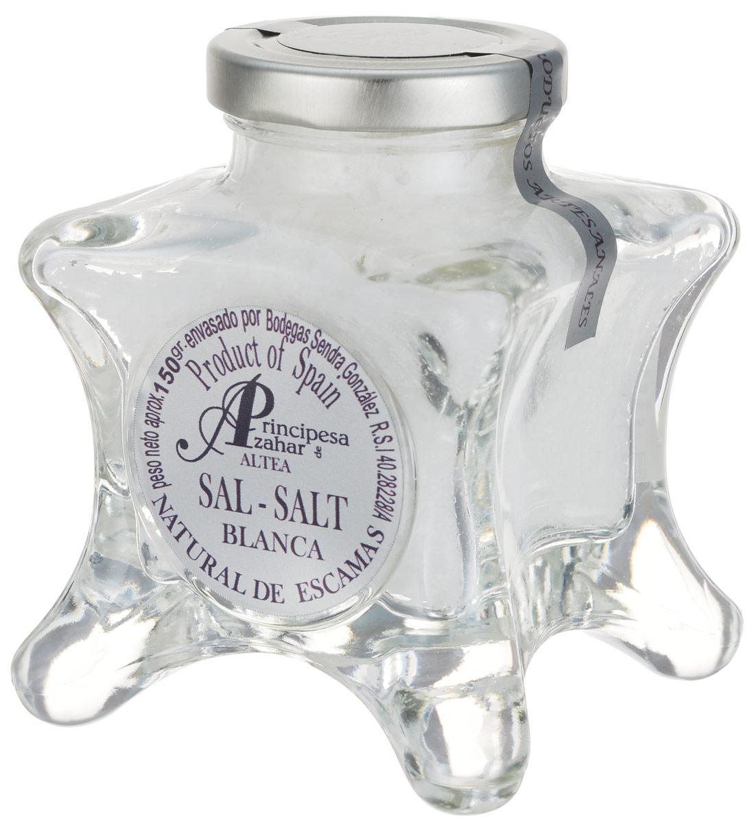 Principe de Azahar морская пищевая соль, 150 г8436531342838Пищевая натуральная морская соль Principe de Azahar от фермера Sendra Gonzalez - это продукт для гурманов, а также любителей кулинарии с воображением. Морская соль полезнее обычной поваренной, так как содержит высокую концентрацию магния и других полезных веществ. Размер кристаллов составляет 4-12 мм.