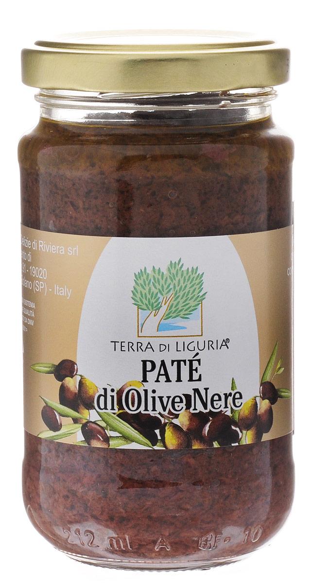 Terra di Liguria Паштет из черных маслин, 180 гCROLTDLПаштет из черных маслин Terra di Liguria.Состав: черные маслины 84%, масло оливковое экстра верджине, соль, регулятор кислотности: молочная кислота.