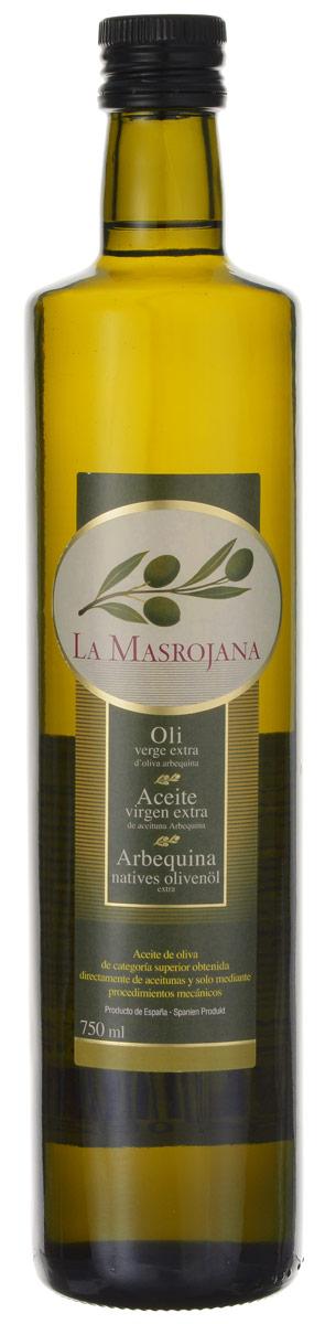 La Masrojana Extra Virgin масло оливковое, 0,75 л8420642000206Компания La Masrojana выпускает оливковое масло из одного сорта оливок - Арбекина. Из-за своего небольшого размера эти оливки собирают вручную, они содержат большое количество масла. Оливковое масло из сорта Арбекина - это легкая и нежная текстура . Вкус сладкий и фруктовый, с оттенками яблока и миндаля. Аромат - очень свежий и фруктовый, в первых тонах чувствуется томат, миндаль, укроп, зеленая трава.Кислотность - 0,2%, что по нормативам Испании считается лечебным оливковым маслом. Идеальное масло на любой случай! Особенно рекомендуется для овощей (свежих или вареных) и рыбы (на пару или на гриле), а также выпечки.
