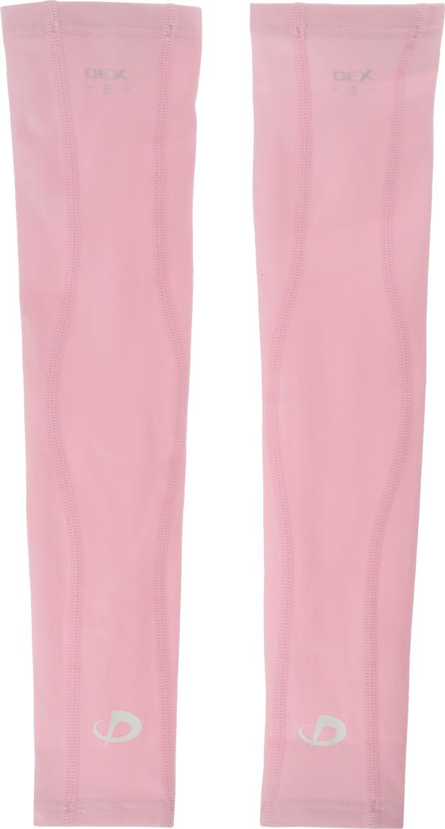Рукав силовой Phiten  X30 Long , цвет: светло-розовый, 2 шт. Размер S (19-25 см) - Единоборства