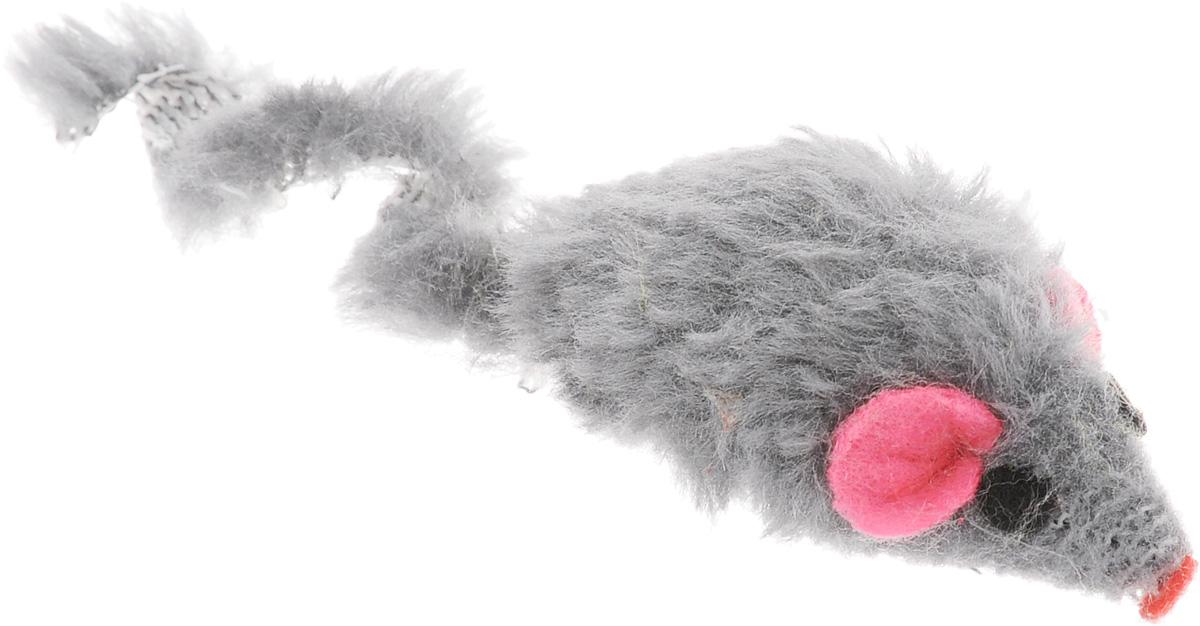 Игрушка для кошек Каскад Мышь, с коротким мехом, цвет: серый, длина 5 см канцелярия maped циркуль essentials