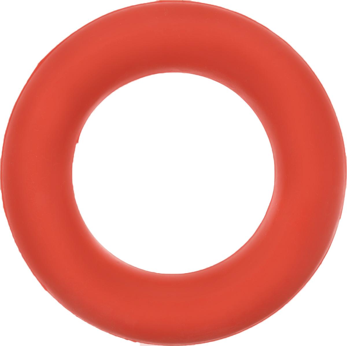 Игрушка для собак Каскад Кольцо, цвет: коралловый, диаметр 9 см игрушка для животных каскад мячик пробковый диаметр 3 5 см