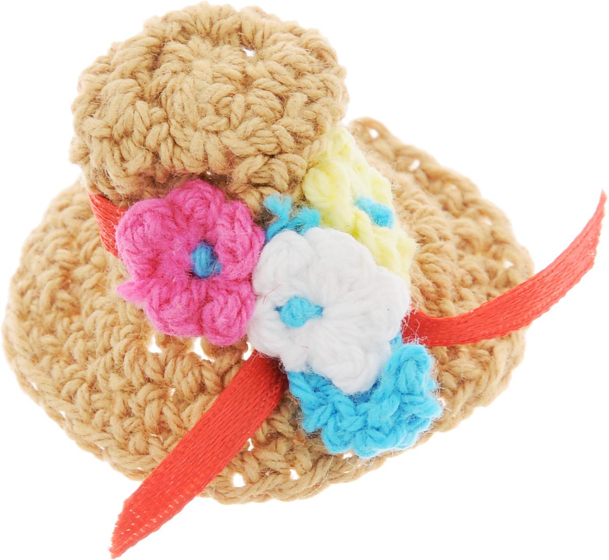 Резинка для животных Каскад Шляпка, цвет: темно-бежевый, диаметр 5 см игрушка для животных каскад мячик пробковый диаметр 3 5 см
