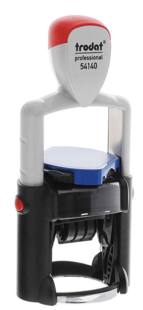 Trodat Датер со свободным полем однострочный русифицированный 3 мм54140Однострочный русифицированный датер Trodat со свободным полем и буквенным отображением месяца будет незаменим в отделе кадров или в бухгалтерии любой компании. Прочный пластиковый корпус с металлическими деталями гарантирует долговечное бесперебойное использование. Модель отличается высочайшим удобством в использовании и оптимально ложится в руку благодаря эргономичной ручке. Оттиск проставляется практически бесшумно, легким нажатием руки. Улучшенная конструкция, защитное покрытие лент и видимая площадь печати гарантируют качество и точность оттиска. Надежное покрытие ленты с датой предотвращает контакт пальцев с краской, сохраняя ваши пальцы чистыми. Также в комплект входит подушечка для штампов. Высота шрифта - 3 мм. Trodat - идеальный штамп для ежедневного использования в офисе, гарантирующий получение чистых и четких оттисков. Идеально подходит к самым разным требованиям в повседневной офисной жизни.