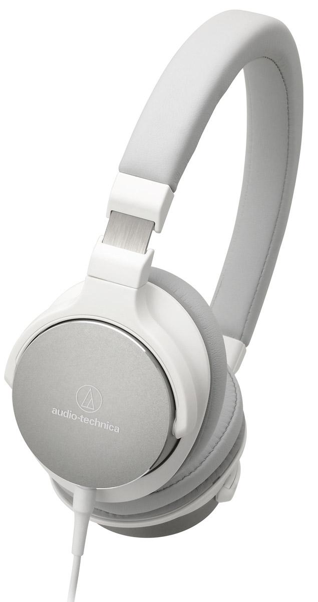 Audio-Technica ATH-SR5, White наушники15118425Audio-Technica ATH-SR5 - портативные накладные наушники, разработанные специально для трансляции аудио высокого разрешения. Благодаря своему полувековому опыту, компании Audio-Technica удалось создать наушники с настоящим Hi-Fi-звучанием, но при этом очень удобные в использовании не только в домашних условиях, но и в путешествиях. Лёгкая гибкая конструкция, мягкие амбушюры с эффектом памяти и регулируемое оголовье подарят возможность наслаждаться любимой музыкой много часов подряд!Специально разработанные 45-мм драйверы передают звук высокого разрешенияПоворотные чашкиОтсоединяемый кабель с микрофоном и пультом управленияАмбушюры с эффектом памяти обеспечивают непревзойденный комфорт