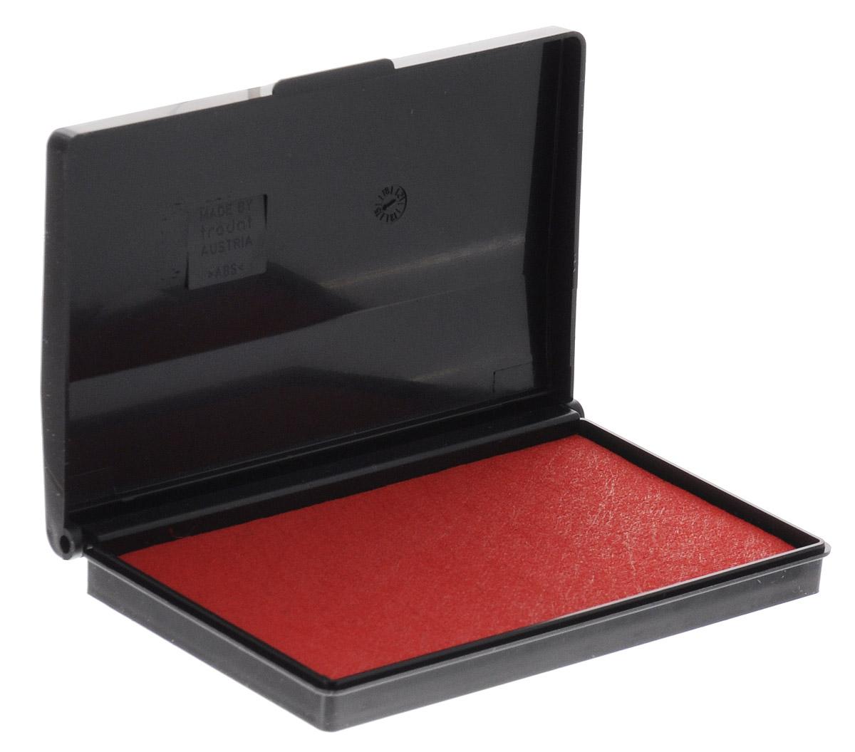 Trodat Штемпельная подушка цвет красный 9 х 5 см9051/ЧШтемпельная подушка Trodat станет незаменимым предметом в отделе кадров или в бухгалтерии любой компании.Настольная штемпельная подушка красного цвета в пластиковом корпусе имеет универсальный слой, который можно заправлять штемпельной краской как на водной, так и на спиртовой основе. Используется для окрашивания ручных штампов, изготовленных из резины и полимера. Не высыхает в открытом состоянии на протяжении длительного времени. Оттиск с краской на водной основе Trodat сохраняет первоначальный вид на протяжении десятилетий.Штемпельная подушка Trodat предназначена для ежедневного использования в офисе. Идеально подходит к самым разным требованиям в повседневной офисной жизни.