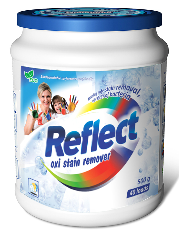 Кислородный пятновыводитель Reflect Oxi Stain Remover, 500 г пятновыводитель ace oxi magic white 500 г