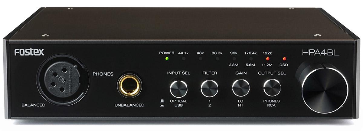 Fostex HP-A4BL усилитель для наушников1511851424-битный ЦАП - усилитель для наушников, PCM, DSD, входы: оптический S/PDIF (16/24:41-192кГц), USB, выходы: балансный на наушники, аналоговый RCA Pin, , MicroSD до 32 Гб, 150x34x157мм, 630 г