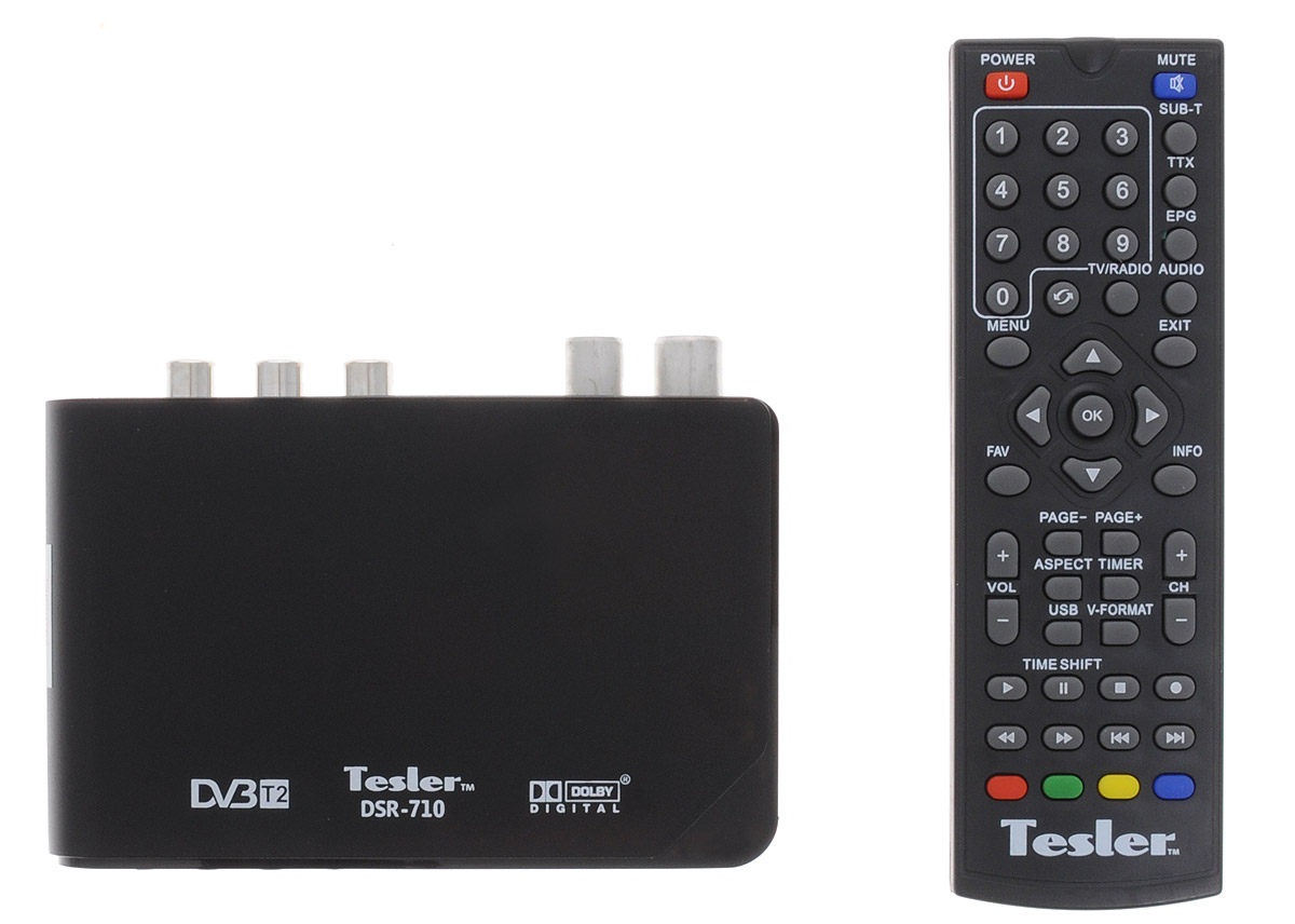 Tesler DSR-710 цифровой телевизионный ресивер DVB-T/T2 цифровой телевизионный ресивер lumax dv 3209 hd