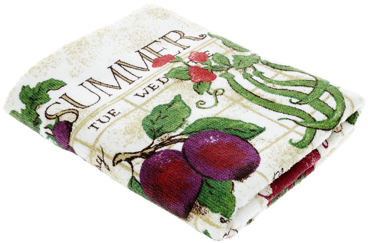 Полотенце кухонное Sunvim Дары лета, 40 х 70 см09-40ВКухонное полотенце Sunvim Дары лета, выполненное из 100% хлопка, оформлено ярким рисунком. Изделие предназначено для использования на кухне и в столовой.Такое полотенце станет отличным вариантом для практичной и современной хозяйки.