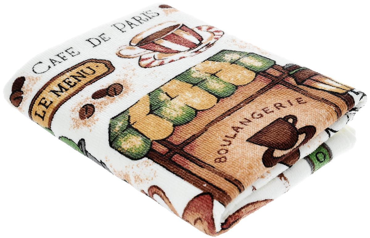 Полотенце кухонное Sunvim Кофемания, 40 х 70 см09-40ВКухонное полотенце Sunvim Кофемания, выполненное из 100% хлопка, оформлено ярким рисунком. Изделие предназначено для использования на кухне и в столовой.Такое полотенце станет отличным вариантом для практичной и современной хозяйки.