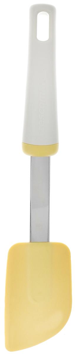 Шпатель Tescoma Delicia, силиконовый, длина 27 см630056Мини-шпатель Tescoma Delicia прекрасно подходит для перемешивания ирастирания небольшого количества ингредиентов в мисках из пластика инержавеющей стали и в посуде с антипригарным покрытием. Изделие выполненоиз высококачественного пластика. Силиконовая рабочая часть не повреждаетобрабатываемую поверхность. Можно мыть в посудомоечной машине. Общая длина изделия: 27 см. Размер рабочей части: 8,5 х 5 см.
