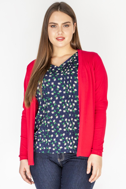 Джемпер женский Vis-A-Vis, цвет: красный, темно-синий. VIS-0294J. Размер XL (50) джемпер женский vis a vis цвет светло зеленый vis 0289 размер xl 50