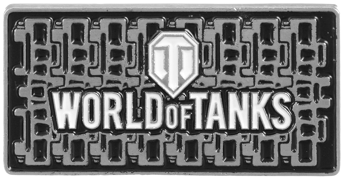 Значок World of Tanks Гусеница, цвет: серебряный. 13221322Значок Гусеница от World of Tanks изготовлен из цинкового сплава. Значок выполнен в виде таблички с надписью Word of Tanks. Крепится изделие с помощью застежек-гвоздиков.Значок - это важный аксессуар истинного игрока.