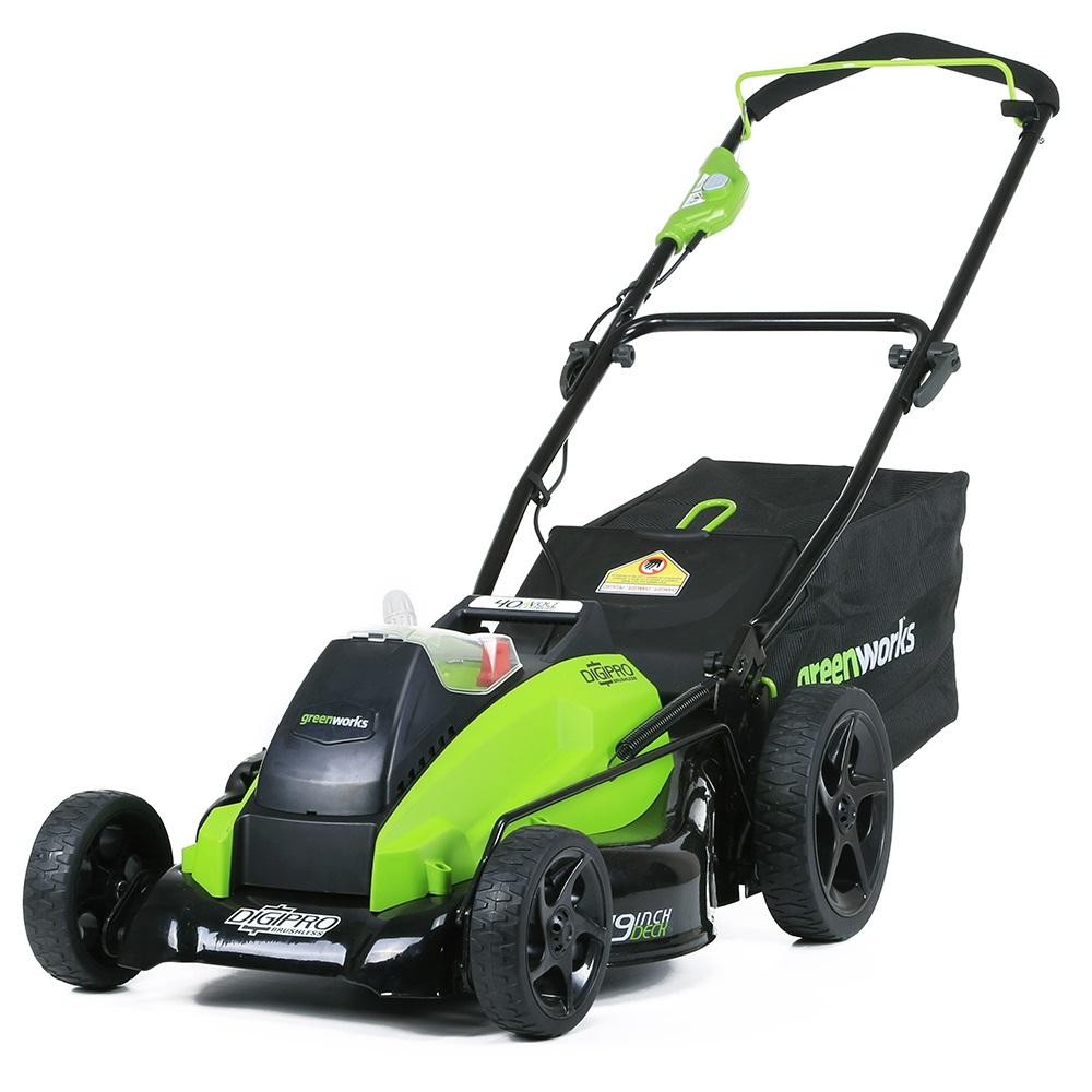 Газонокосилка GreenWorks 40V 45см б/щ (без аккумуляторной батареи и зарядного устройства) 2500407