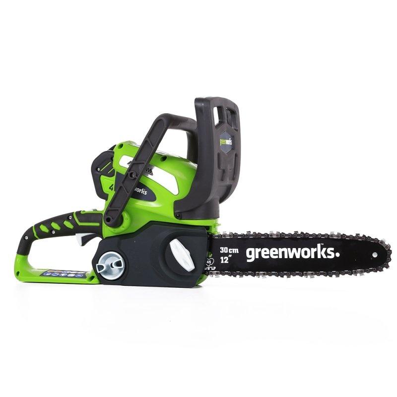 Пила цепная аккумуляторная Greenworks, без аккумулятора и зарядного устройства, 40V 20117 аккумуляторная пила greenworks g24csk2