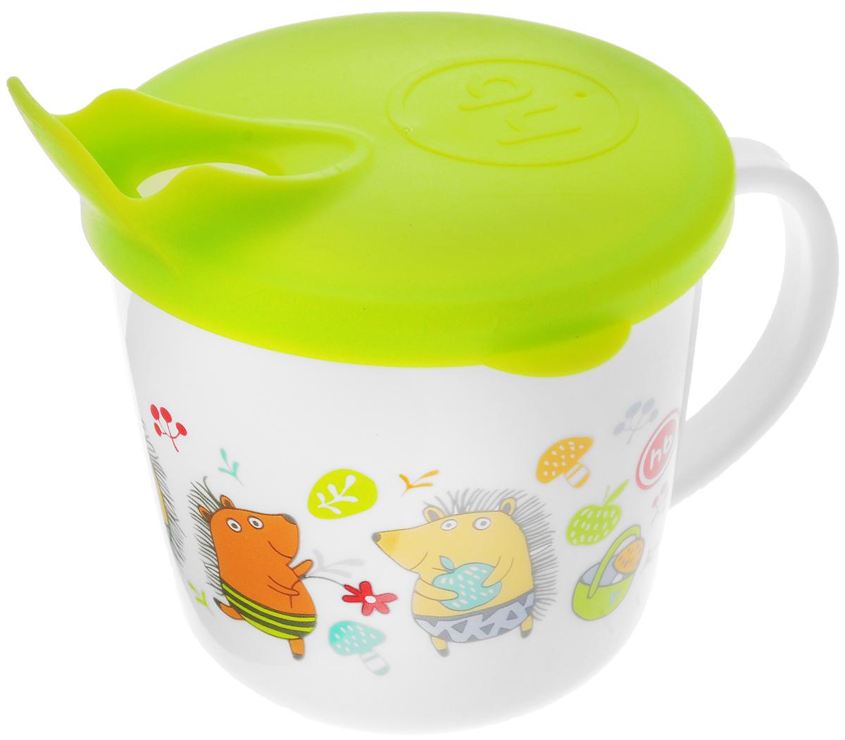 Happy Baby Чашка-поильник Ежики от 8 месяцев цвет салатовый бусы из янтаря солнечные ежики