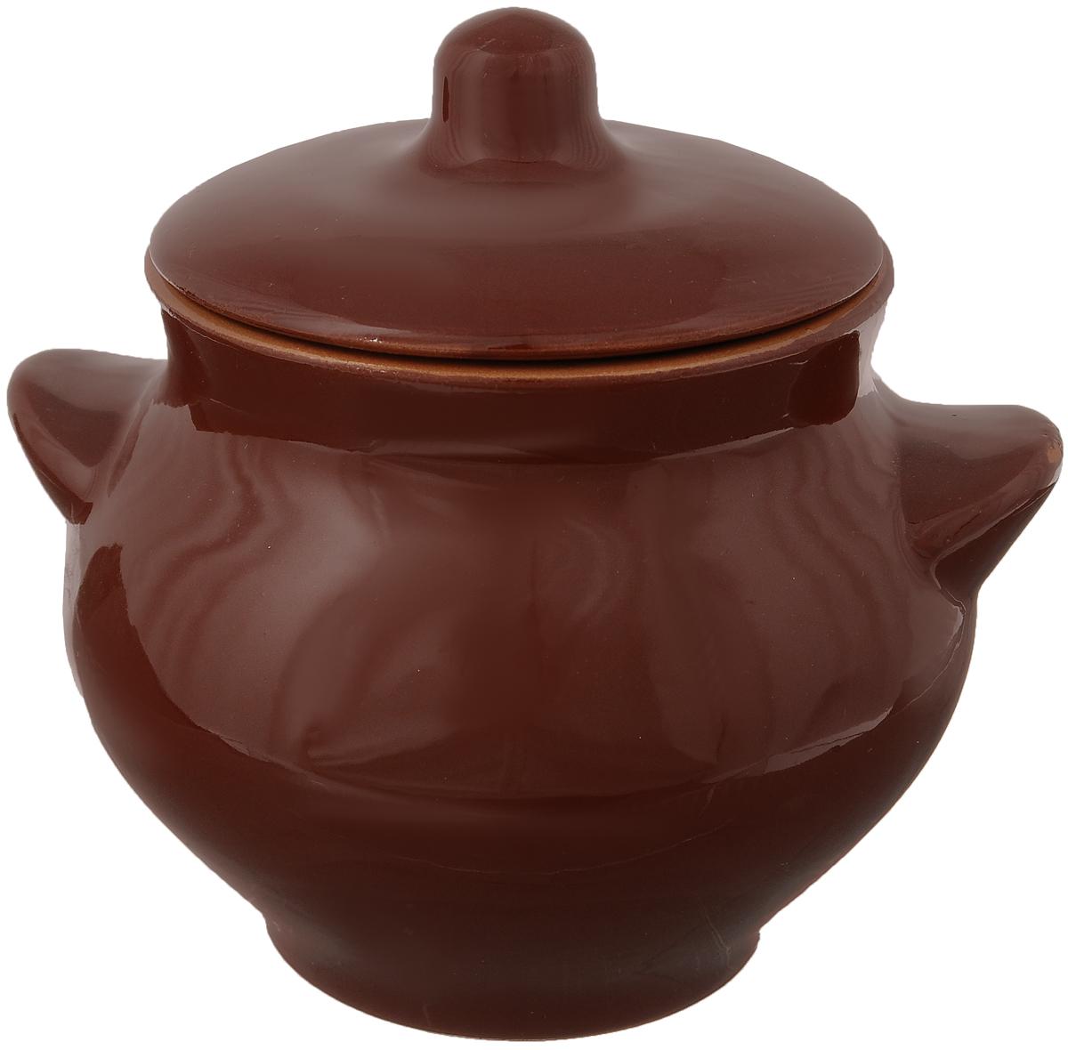 Горшочек для запекания Борисовская керамика Радуга, цвет: коричневый, 550 млРАД00000328_коричневыйГоршочек для запекания Борисовская керамика Радуга выполнен извысококачественной красной глины. Уникальные свойства красной глины итолстые стенки изделия обеспечивают эффект русской печи при приготовленииблюд. Блюда, приготовленные в таком горшочке, получаются нежными и сочными. Вы сможете приготовить мясо, сделать томленые овощи и все это безкапли масла. Это один из самых здоровых способов готовки.Диаметр горшка (по верхнему краю): 9,5 см. Высота стенок: 11 см.