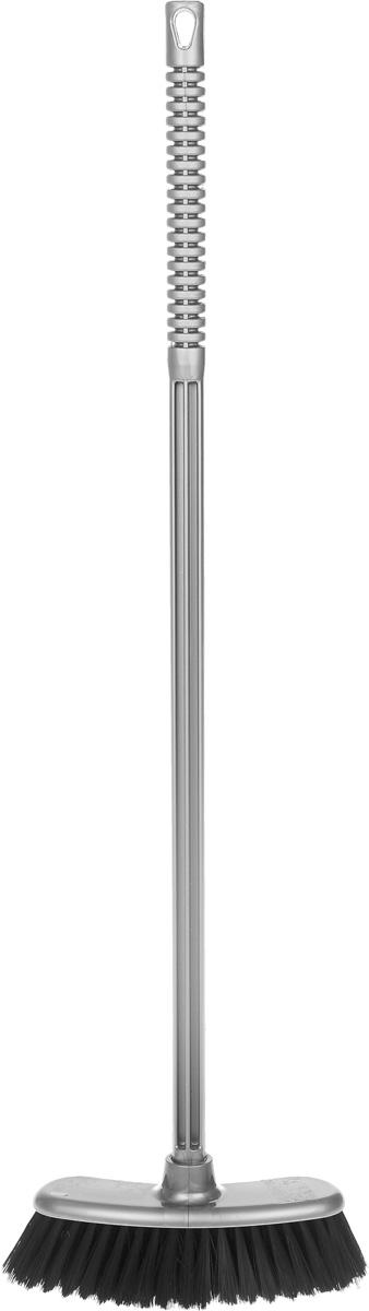 Щетка Альтернатива Комфорт, с черенком, цвет: серый, черный, длина 76 см мини лопата штыковая truper с черенком 69 см