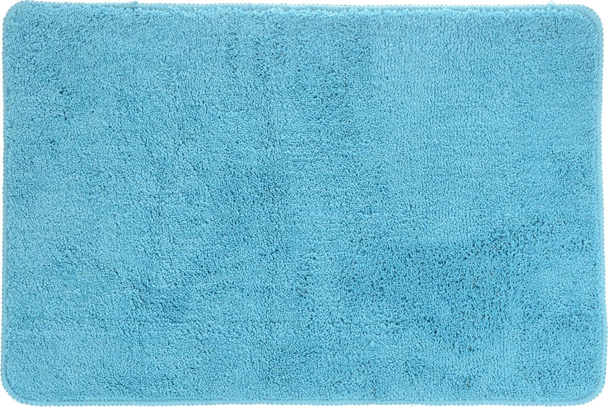 Коврик для ванной комнаты Aqva Line Аква, цвет: голубой, 50 х 75 см коврик для ванной комнаты aqua line олива цвет зеленый 68 х 35 см