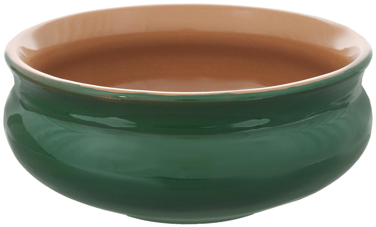 Тарелка глубокая Борисовская керамика Скифская, цвет: зеленый, 800 млРАД14457937_зеленыйГлубокая тарелка Борисовская керамика Скифская выполнена из высококачественной керамики.Изделие сочетает в себе изысканный дизайн с максимальной функциональностью. Она прекрасно впишется в интерьер вашей кухни и станет достойным дополнением к кухонному инвентарю. Тарелка Борисовская керамика Скифская подчеркнет прекрасный вкус хозяйки и станет отличным подарком. Можно использовать в духовке и микроволновой печи.Диаметр тарелки (по верхнему краю): 16 см.Объем: 800 мл.