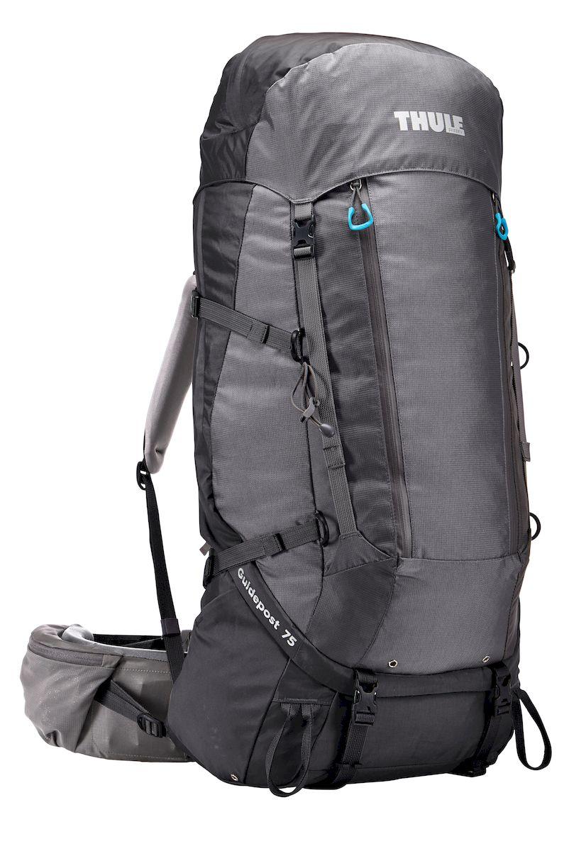 Рюкзак треккинговый женский Thule Guidepost, цвет: серый, 75 л206402Женский треккинговыйрюкзак Thule Guidepost с объемом 75 л идеально подходит для недельных походов. Рюкзак отличается настраиваемой системой крепления TransHub, обеспечивающей идеальную посадку, поворачивающимся набедренным ремнем, который позволяет рюкзаку повторять ваши движения, специальными наплечными и набедренными ремнями для женщин и крышкой, способной трансформироваться в дополнительный рюкзак, который поможет вам покорить любую вершину.Легкая регулировка ремней для торса на 15 см обеспечивает идеальную посадку, а наплечные ремни QuickFit позволяют выбрать из один из трех вариантов длины наплечных ремней.Система крепления Transhub с алюминиевой опорой и проволочным каркасом из пружинной стали позволяют перенести вес рюкзака на бедра, обеспечивая более удобную переноску. Поворачивающийся набедренный ремень позволяет рюкзаку повторять ваши движения, обеспечивая большую естественность передвижения и улучшенный баланс. Съемная крышка трансформируется в просторный рюкзак 24 л, позволяя сочетать два рюкзака в одном. Удобный доступ к содержимому рюкзака благодаря большой J-образной застежке на молнии на боковой панели. Воздухопроницаемая задняя панель обеспечивает поддержку в главных точках соприкосновения, но при этом позволяет воздуху циркулировать и не дает вам потеть. Два больших передних кармана на застежках-молниях предназначены для хранения часто используемых предметов. Удобное хранение трекинговых палок или ледоруба при помощи двух петель-креплений. Два кармана на набедренном ремне с застежками-молниями и эластичные боковые карманы позволяют хранить бутылки, еду и другие мелкие предметы. Конструкция, предназначенная для хранения воды, включает внешний карман для бутылки с водой и обеспечивает удобный доступ к ней (бутылка продается отдельно).
