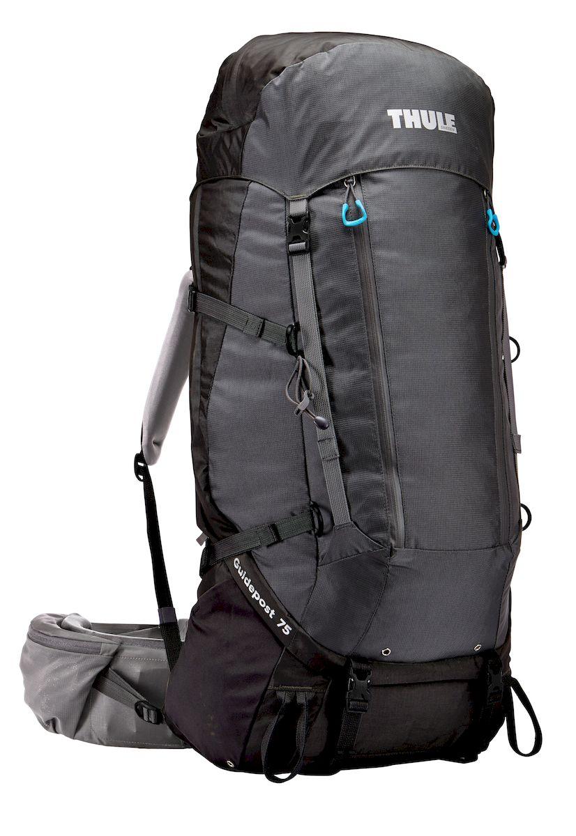 Рюкзак треккинговый мужской Thule Guidepost, цвет: темно-серый, 75 л206200Рюкзак треккинговый мужской Thule Guidepost с объемом 75 л идеально подходит для недельных походов. Рюкзак отличается настраиваемой системой крепления TransHub, обеспечивающей идеальную посадку, поворачивающимся набедренным ремнем, который позволяет рюкзаку повторять ваши движения, и крышкой, способной трансформироваться в дополнительный рюкзак, который поможет вам покорить любую вершину.Легкая регулировка ремней для торса на 15 см обеспечивает идеальную посадку, а наплечные ремни QuickFit позволяют выбрать из один из трех вариантов длины наплечных ремней.Система крепления Transhub с алюминиевой опорой и проволочным каркасом из пружинной стали позволяют перенести вес рюкзака на бедра, обеспечивая более удобную переноску. Поворачивающийся набедренный ремень позволяет рюкзаку повторять ваши движения, обеспечивая большую естественность передвижения и улучшенный баланс.Съемная крышка трансформируется в просторный рюкзак 24 л, позволяя сочетать два рюкзака в одном. Удобный доступ к содержимому рюкзака благодаря большой J-образной застежке на молнии на боковой панели.Воздухопроницаемая задняя панель обеспечивает поддержку в главных точках соприкосновения, но при этом позволяет воздуху циркулировать и не дает вам потеть. Два больших передних кармана на застежках-молниях предназначены для хранения часто используемых предметов. Удобное хранение треккинговых палок или ледоруба при помощи двух петель-креплений. Два кармана на набедренном ремне с застежками-молниями и эластичные боковые карманы позволяют хранить бутылки, еду и другие мелкие предметы. Конструкция, предназначенная для хранения воды, включает внешний карман для бутылки с водой и обеспечивает удобный доступ к ней (бутылка продается отдельно).