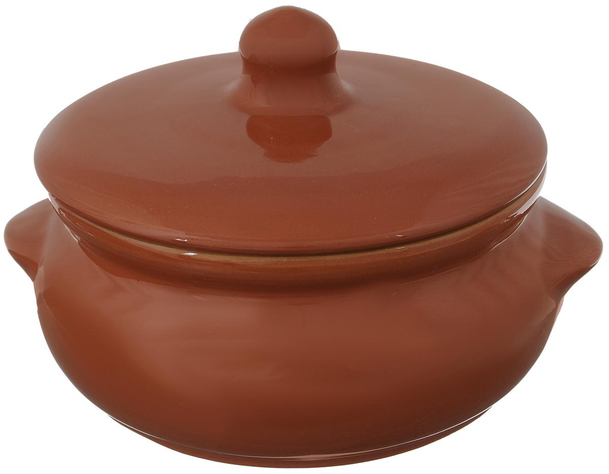 Горшок для запекания Борисовская керамика Радуга, с крышкой, цвет: кирпичный, 700 млРАД00000380_кирпичныйГоршок для запекания Борисовская керамика Радуга с крышкой выполнен из высококачественной керамики. Уникальные свойства красной глины и толстые стенки изделия обеспечивают эффект русской печи при приготовлении блюд. Блюда, приготовленные в керамическом горшке, получаются нежными исочными. Вы сможете приготовить мясо, сделать томленые овощи и все это без капли масла. Этоодин из самых здоровых способов готовки. Можно использовать в духовке и микроволновой печи. Диаметр горшка (по верхнему краю): 15 см.Высота стенок: 7 см. Объем: 700 мл.