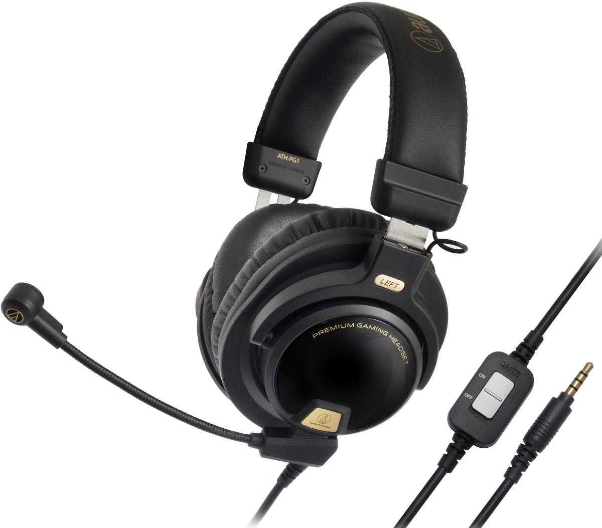 Audio-Technica ATH-PG1 игровые наушники15118120Audio-Technica ATH-PG1 – домашняя гарнитура закрытого типа для компьютерных игр, телефонии и прослушивания музыки. Большие 44-мм драйверы обеспечивают мощный, живой звук и подчеркивают каждую акустическую деталь игрового окружения. Гарнитура изготовлена из легких материалов, она имеет мягкие кожаные оголовье и амбушюры, что позволяет комфортно играть длительное время. ATH-PG1 имеет съёмный кабель, в комплекте идут три шнура, в том числе с микрофонами для смартфонов и для игр. Игровой микрофон выполнен на гибкой ножке и сочетается с функцией отключения звука и управления громкостью. Кристально чистая голосовая связь обеспечена!Живой звукМягкая кожа и лёгкие материалы обеспечивают комфорт и свободу в использованииУзконаправленный микрофон на гибкой ножкеФункция отключения звука и управления громкостью микрофонаКак выбрать игровые наушники. Статья OZON Гид