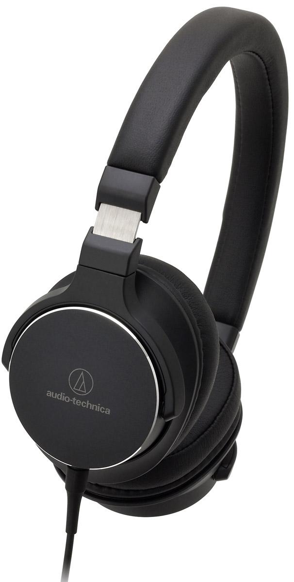 Audio-Technica ATH-SR5, Black наушники10102357Audio-Technica ATH-SR5 – портативные накладные наушники, разработанные специально для трансляции аудио высокого разрешения. Благодаря своему полувековому опыту, компании Audio-Technica удалось создать наушники с настоящим Hi-Fi-звучанием, но при этом очень удобные в использовании не только в домашних условиях, но и в путешествиях. Лёгкая гибкая конструкция, мягкие амбушюры с эффектом памяти и регулируемое оголовье подарят возможность наслаждаться любимой музыкой много часов подряд!Специально разработанные 45-мм драйверы передают звук высокого разрешенияПоворотные чашкиОтсоединяемый кабель с микрофоном и пультом управленияАмбушюры с эффектом памяти обеспечивают непревзойденный комфорт